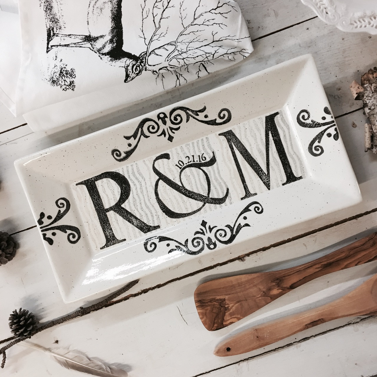 Monogramed Wedding Gifts: Monogrammed Wedding Gifts, Personalized Wedding Platter