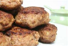 Moist and flavorful blend of pork, beef and veal ground with salt, pepper, parsley, garlic and just a sprinkle of parmesean bread crumbs.