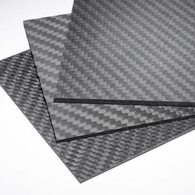 """Matte Carbon Fiber Sheet 4""""x48""""x 2 4mm (102mm x 1219mm) - Protech"""