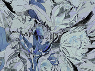 Flower Dream - Cool Blue & Gray