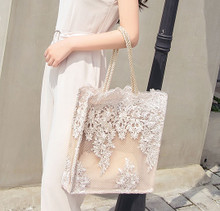 BG08083018A Lace Tote Bag