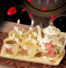 HW23112108A Rose pattern tea pot