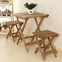 HW27052019A  Wooden Table and 2 Chairs