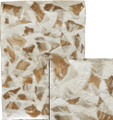 """#21203 Architectural Fibers, """"Linen Bark Montage""""  22"""" x 31"""" -  Combining both the """"Natural Linen Bark"""" and the """"Bleached Linen Bark"""", this piece is a montage of the two colors of this unusual organic fiber.  Fibers  are applied to a heavy base of handmade paper pulp.  Great for book covers, collage/montage work or as a background for other artwork."""