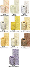 """""""FLORA & FIBER"""" Textured Paper Ribbon Rolls - 11 yd Rolls A thin, lightweight paper ribbon that  has been """"accordion"""" folded to create an interesting texture"""