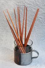 "#84567 Mango Wood Chopsticks, Bundle of 5 Pair 10 beautiful Mango Wood Chopsticks, 10"" long - Save 20% off single pairs"