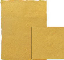"""#89306 Coco 'Ribless' Handmade Paper, """"Ocher"""" A dusty yellow shade in a 26"""" x 36""""  relatively smooth sheet.  Deckle edges"""