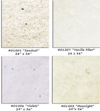 Manila Hemp Handmade Papers   - Beautiful strong handmade papers with various fibers in pale neutral shades,