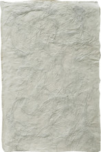 """#26627 Mindoro Shadow Handmade Paper, """"Marsh Grass & Paper Bits""""  -  28"""" x 38""""      Long strands of marsh grass are very liberally sprinkled between the 2 layers of handmade paper, along with random bits of torn kraft paper.  This creates a very pronounced texture on the surface."""