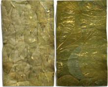 """LUXE LEAF RIBBON/TRIMS    5"""" wide, wired botanical ribbons/trims.  Choose from either """"Antiqued Gilded Mango Leaves"""" or """"Gilded Lotus Leaves"""".  Truly fabulous!!!"""