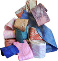 """Marbled Paper  """"Ribbons""""   -    20 yd. Rolls, 5"""" wide       A kaleidoscope of swirling colors on a soft & malleable handmade paper."""