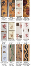 """HANDPRINTS """"SAFARI"""" PAPER 'RIBBONS'     Full Bolts approx  11 yds.     An unusual collection of paper 'ribbons featuring a """"zoo"""" of animals various  & patterns.   All images are either hand stamped or painted & animal images can & will vary in intensity, etc.  Available By-The-Yd, in a 3 yd Roll or a full 11 yd. BOLT"""