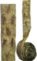 """#62531 """"Gilded Weeds & Moss"""" Botanical Ribbon  - 3"""" Wide  -  Gilded """"bunches"""" of tiny twigs on a moss green background -on an abaca/banana fiber base.  Available by-the-yard, or in a 3 yd. """"Artist Roll"""", or the 10 yd """"Bulk Roll"""""""