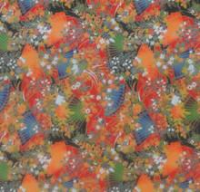"#26812 Yuzen Kimono Paper, ""Chinoiserie Fans"" 24"" x 36""  Close-up"