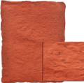 "#89177 - Cabo Crushed, ""Persimmon/Slate"" Deep persimmon/orange, medium weight paper is highly textured.  Pulp has random mocha brown fibers scattered throughout,"