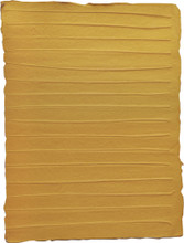 "#89206 Coco Rib Paper, ""Ocher"" Two layers of handmade paper pulp in a dusky mustard color,  ""sandwich"" thin, natural coco rib sticks, creating an unusual handmade paper."