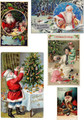 CHAI-101 Christmas Holiday Antique Imagery Composite, Sheet 1 -   Five different Holiday images reproduced from our private collection of originals.   Great for Holiday art/craft projects
