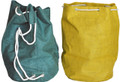 "#958146 Giant Tote Bags, Set2 19"" x 21"" Totes made of tightly woven burlap have a water resistant liner inside and 3/8"" cording through metal grommets so that the bags can be cinched up tightly.  Cording divides into two straps on the back so that it can also be carried as a backpack.  Set/2 includes one Tote in ""Hunter"" & one in ""Ocher""."