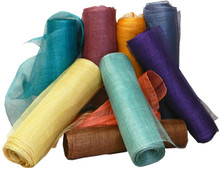 """Abaca Solid Wrap - 18"""" wide 18"""" wide natural abaca  fiber(banana tree family) textile is ideal for art/craft/decor applications. Available in a rainbow of colors.  Can be purchased """"by-the-yard"""" or in Bulk Rolls of 33 yds."""