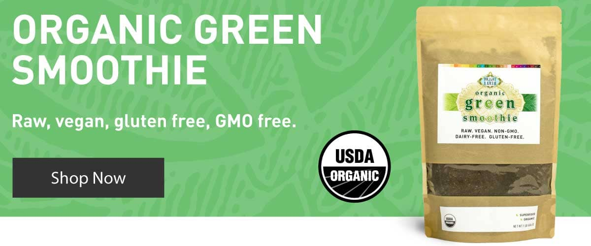 Raw, Vegan, GMO Free Organic Green Smoothie. Shop Now