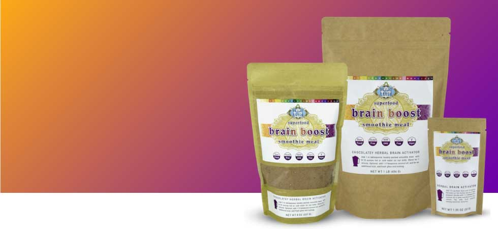 Brain Boost, Raw, Vegan, Smoothie Powder