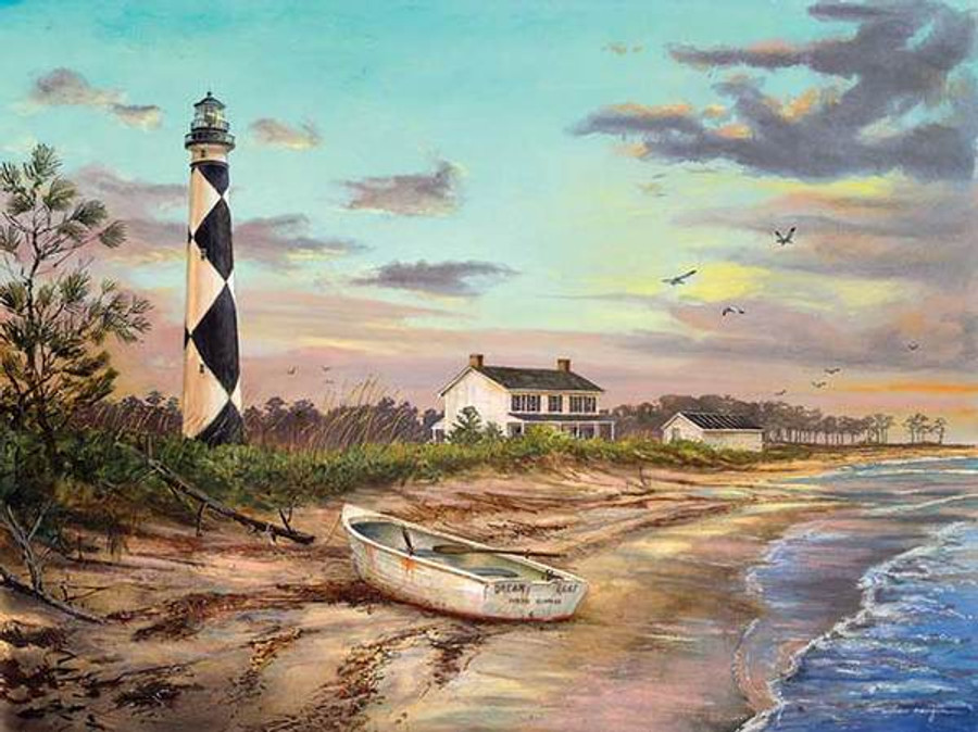 Sunset At Cape Lookout Lighthouse William Mangum At