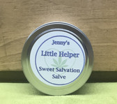 One ounce of Jenny's Little Helper Salve.  Helps pain and inflammation as well as soothes skin.  Contains CBD oil and Arnica Oil.