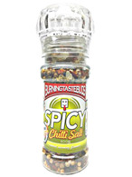 Mild Spice Chilli Salt A sensational blend of mild Jalapeno chillies, coriander and fennel.Grind on chicken, fish, prawns, shellfish then pan fry, grill or BBQ on medium heat. Also good with potato wedges and rice dishes.