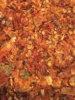 Bhut Jolokia Flakes, oven dried