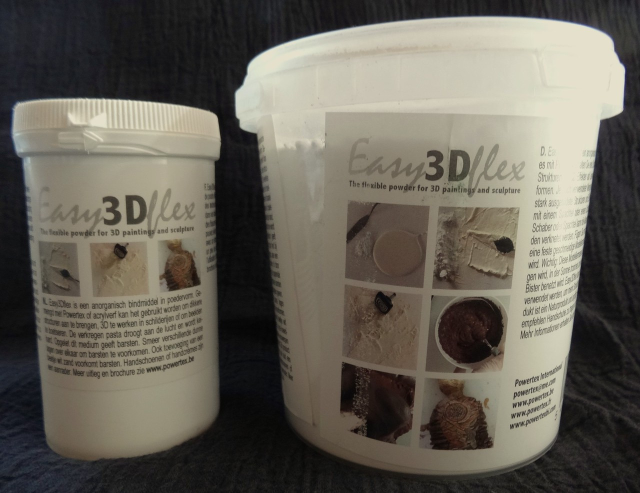 Easy3Dflex comes in two sizes-250g and 1kg