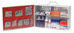 First Aid Metal Cabinet - 2 Shelf Empty w/ Pockets