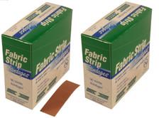 "Heavy Duty Fabric Strip Bandages - 2 Boxes 7/8"" x 3"" - 50 Strip Bandages per box"