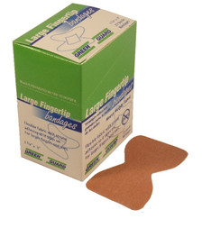 Large Fingertip Heavy Duty Bandages - 25 Count Box