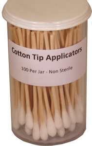 Cotton Tip Applicators in Covered Jar - 100 Count