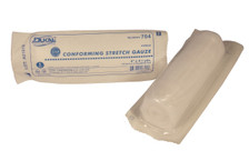 """2 - STERILE Conforming Gauze Roll 4"""" x 4.1 Yards, Individually Wrapped"""