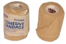 """Cohesive Bandage 3"""" x 5 Yds.  Flexible, Tear-able, Sticks to itself. Won't stick to skin or clothing ."""