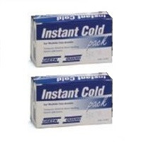 2 - Instant Cold Pack - Boxed (for easy identification in an emergency) - Medium Size.