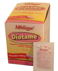 Diotame Chewable Tablets - Compare to Chewable Pepto Bismol Tablets