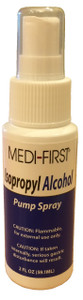Alcohol Pump Spray 2 Oz. Bottle.  Easily fits on any shelf of  your first aid cabinet.