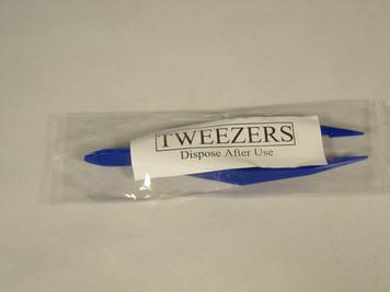 Tweezers, Plastic Single Use - Individually wrapped