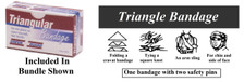 1 – Triangle Bandage (Sling) – Boxed for easy identification in an emergency.