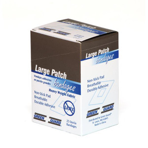 "Heavy Duty Fabric Large Patch Bandage - 2"" x 3"""