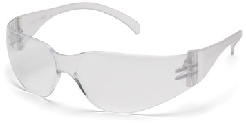 INTRUDER FEATURES  - Lightweight, frameless protection  is ideal for all-day wear. - Superior comfort and fit. - Coated lens provides excellent side protection and 99.9% protection against harmful UV rays. - Exceeds ANSI Z87.1 High Impact Requirements; *CE EN166 Certified;*CAN/CSA Z94.3-07; *AS/NZS 1337