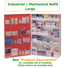 Complete variety of products to resupply an empty large Industrial/Mechanical company cabinet. Have all of the products you need to be prepared for your industrial/Mechanical Workforce.