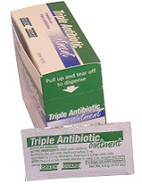Triple Antibiotic Ointment  Packets – 25 Count Dispenser Box