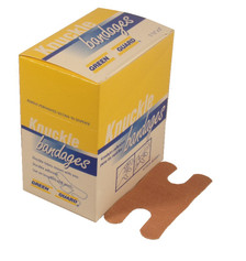 Heavy Duty Fabric Knuckle Bandages – 40 Count Dispenser Box