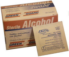 Alcohol Wipes – 50 Count Dispenser Box
