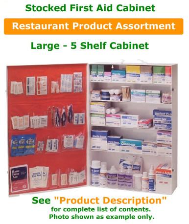 5 Shelf Cabinet Stocked - Restaurant FILL