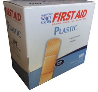 "Plastic Strip Adhesive Bandages 1"" x 3"""