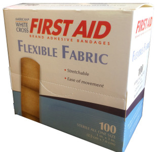Flexible Fabric Adhesive Bandages 100/Dispenser Boxes